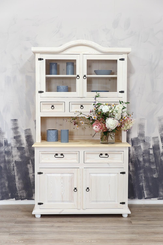 ++Drewniany kredens kuchenny biały sosnowy++