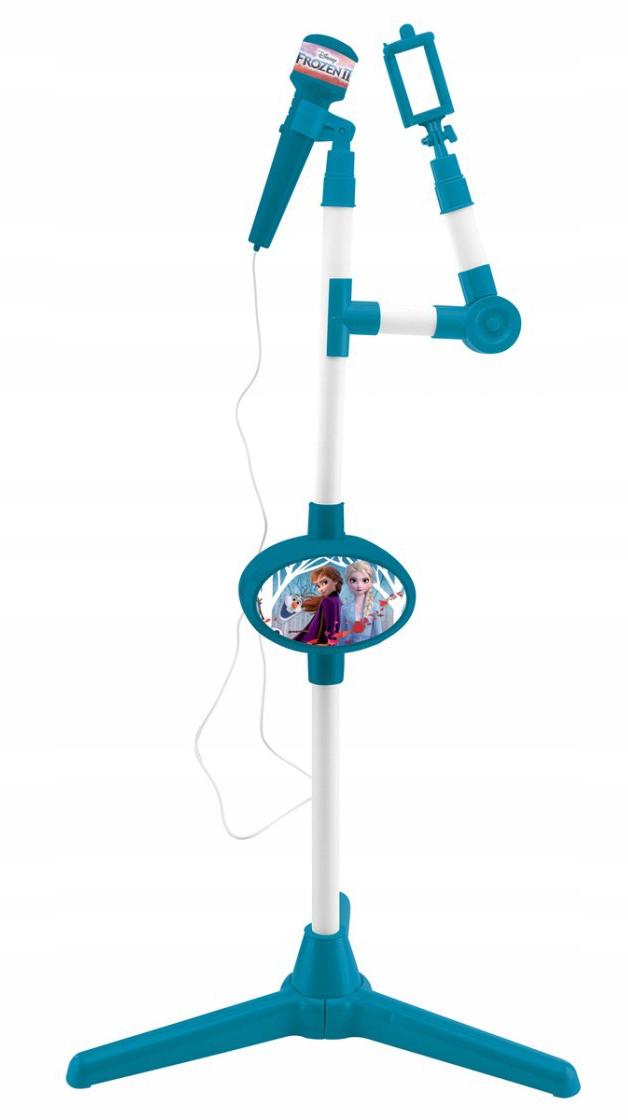 Zmrazený 2 karaoke mikrofón na stojane statívu