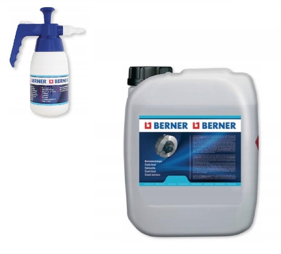Zmywacz do hamulców Berner 5litr plus Rozpylacz