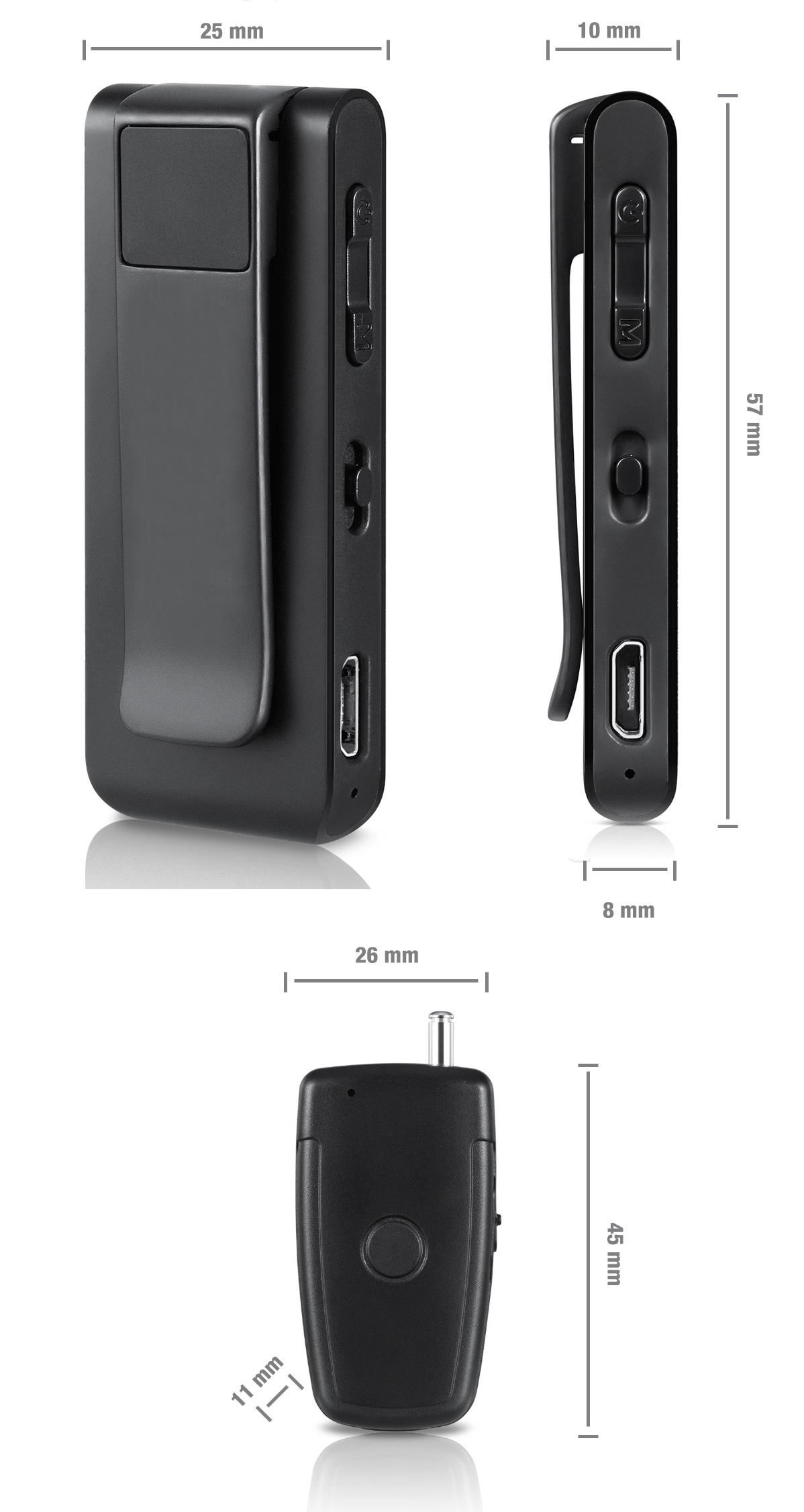 PROFESJONALNY DYKTAFON PODSŁUCH VOX 16GB +MIKROFON Kod producenta DVR-309