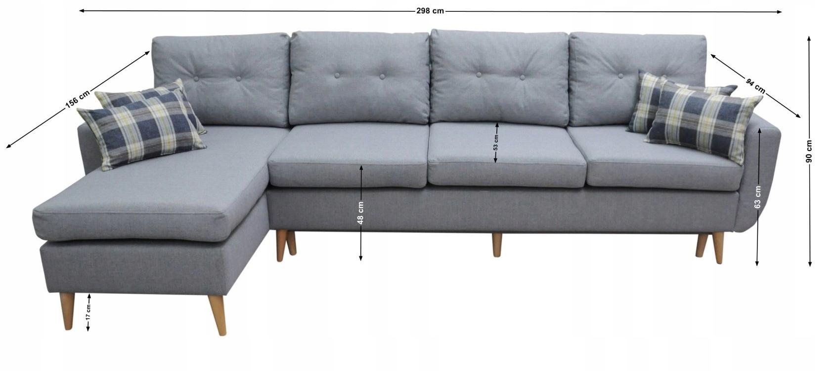 NAROŻNIK CHERRY MAX TROMSO STYL SKANDYNAWSKI Powierzchnia spania - długość (cm) dłuższy niż 220 cm