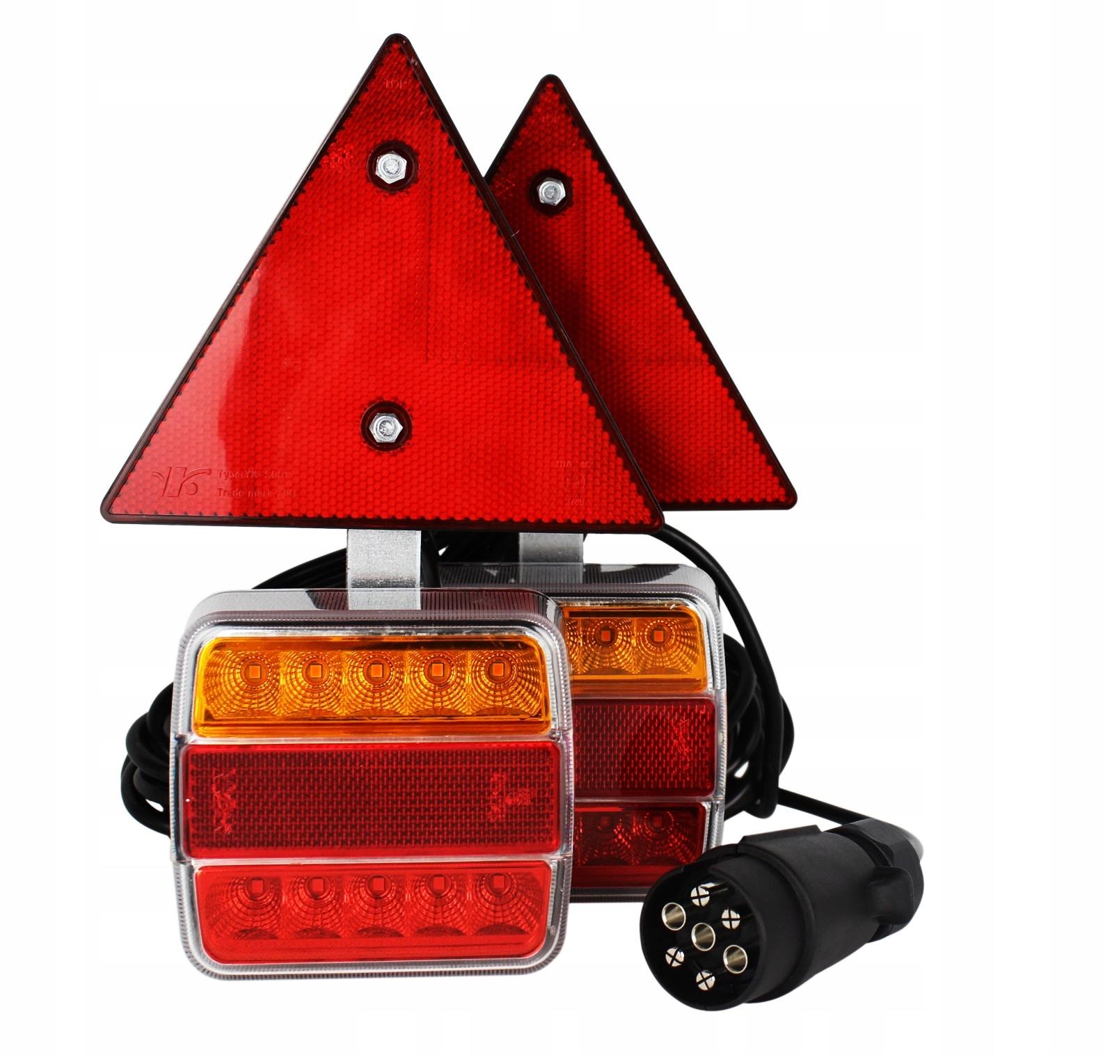 лампы задние комплексные led магнит треугольник прицепа