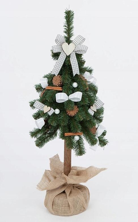 Umelý vianočný stromček zdobený Folk Grey, 80 cm