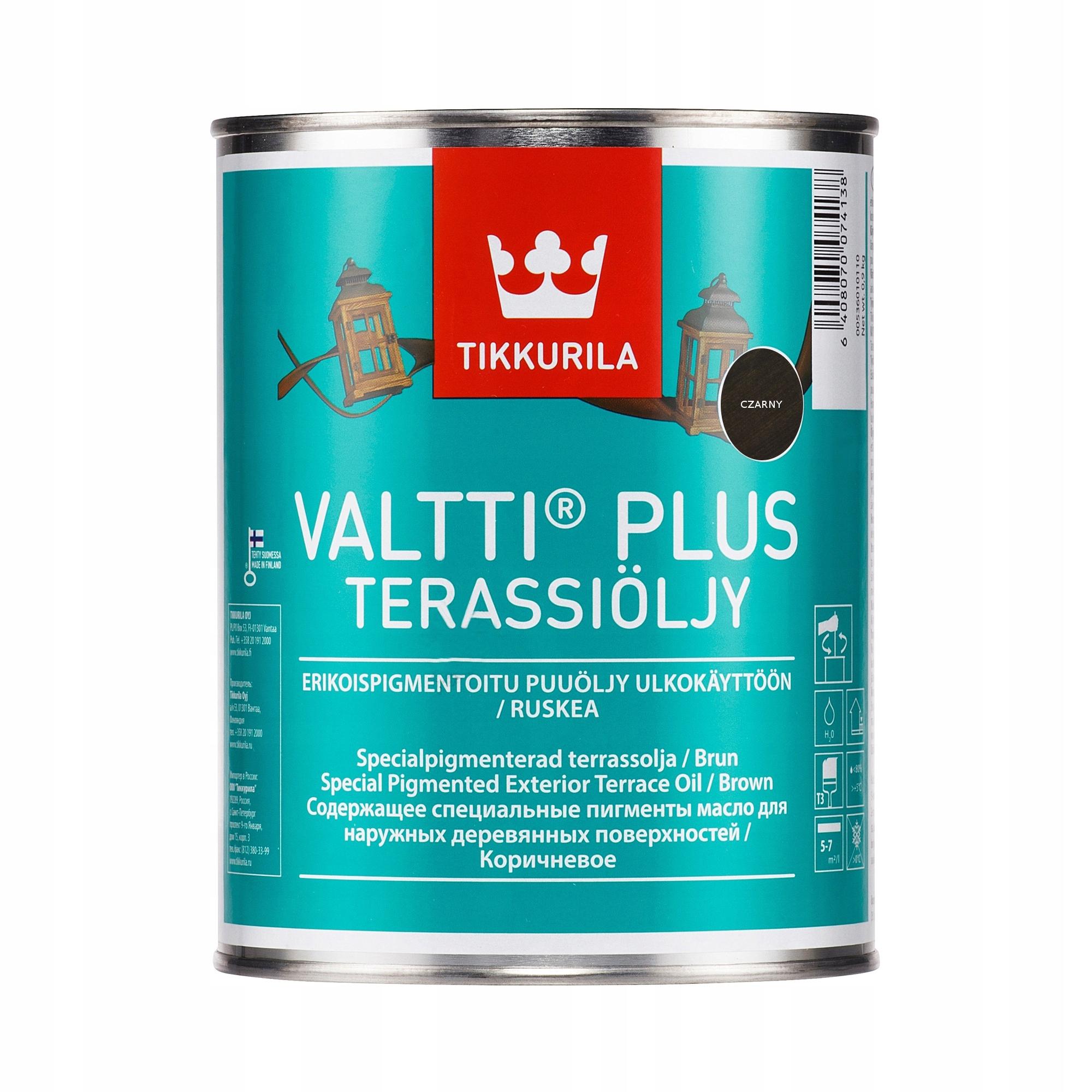 TIKKURILA Valtti Plus Terrace Oil 2, 7л, масло, черный