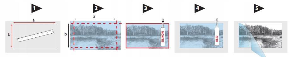 PANEL DEKORACYJNY MDF DO KUCHNI (KOSTKI LODU) F21 Waga produktu z opakowaniem jednostkowym 12 kg