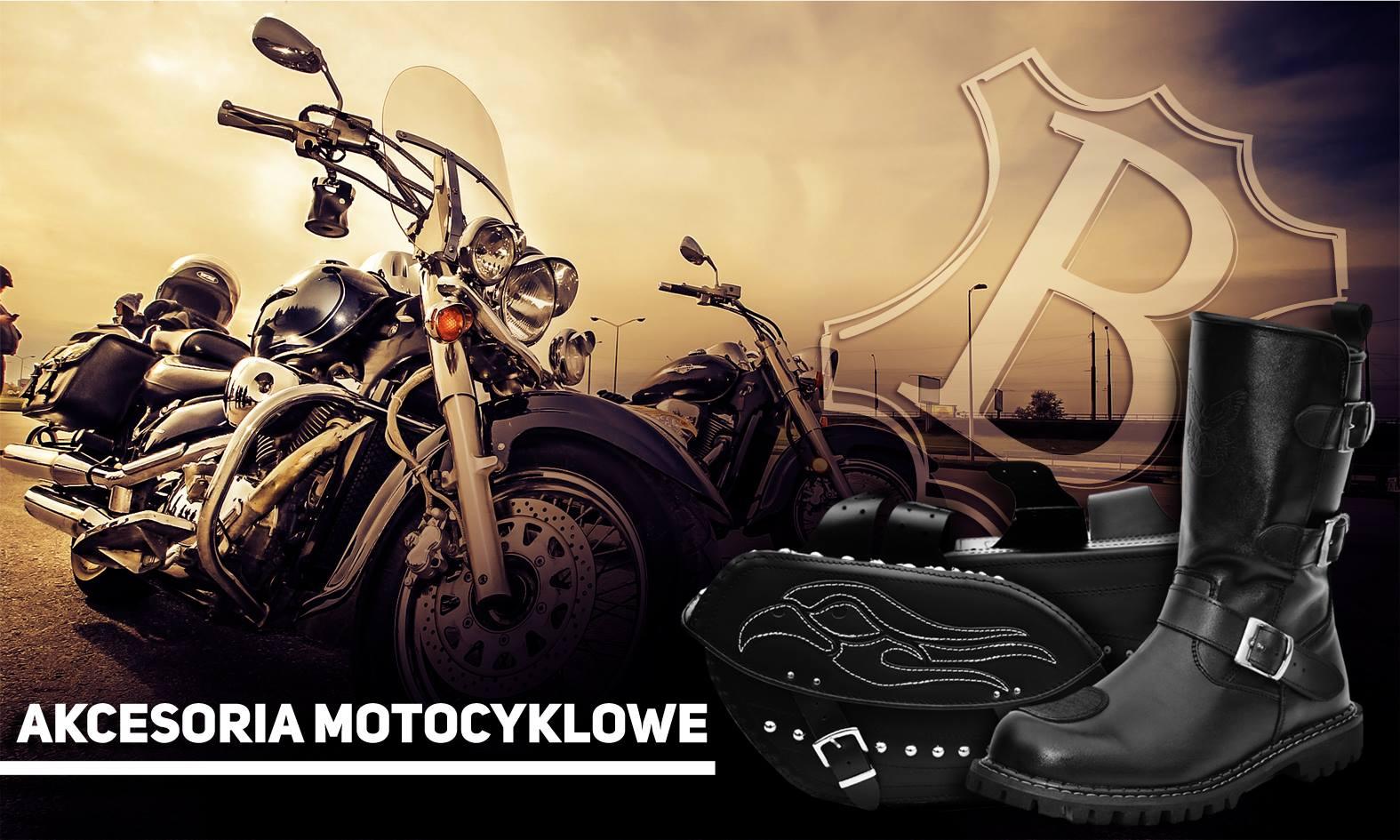 Skórzane pojemne sakwy motocyklowe z ćwiekami 151B