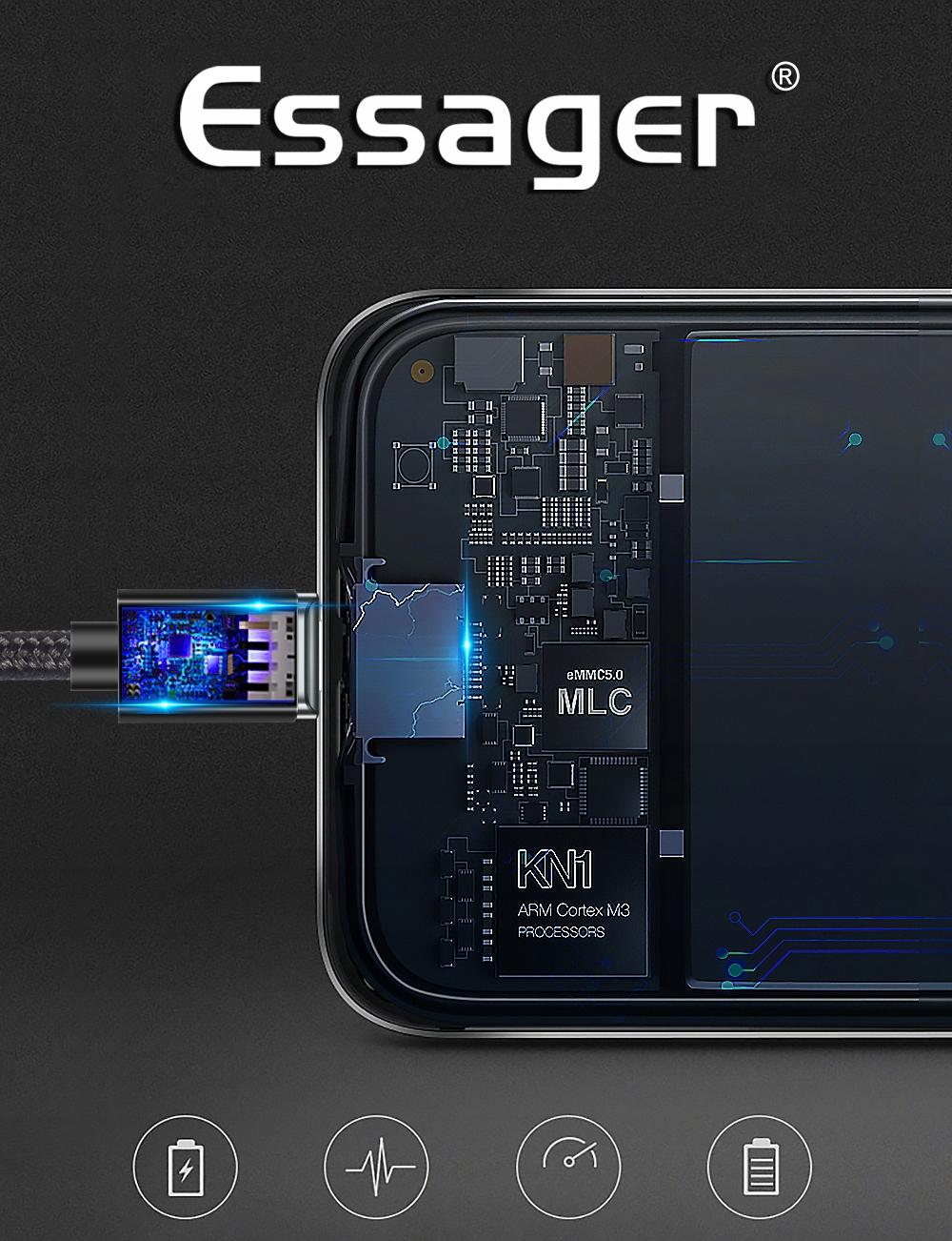 Kabel USB Magnetyczny 1m 3A 3w1 micro typ-C iphone Złącza USB - inne złącze