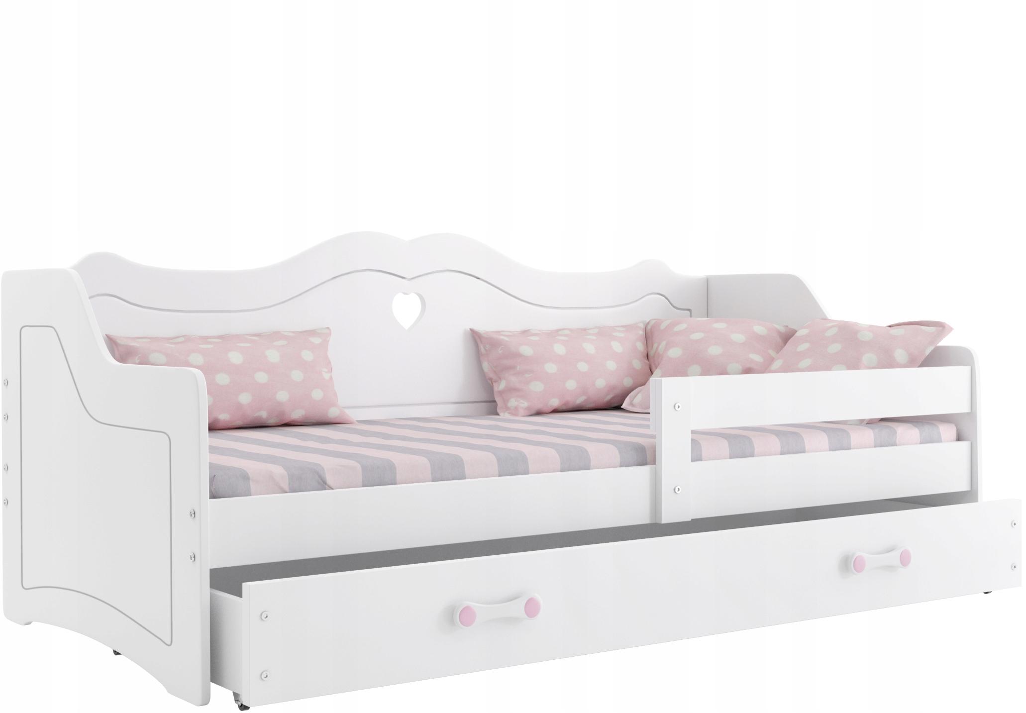 Детская кровать LILI 160x80 белая Julia + матрас