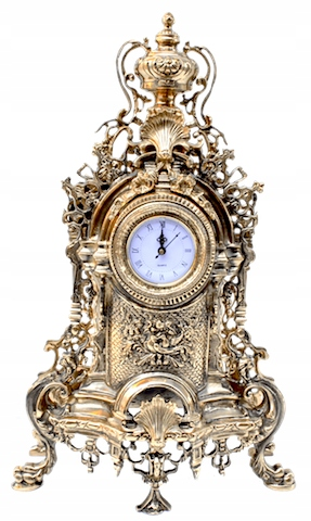 Brass Clock Brass Barooko výrobca.: Gréci:.
