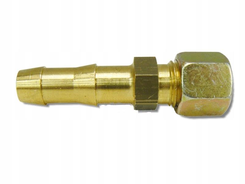 Соединитель переход трубки fi8 на шланг газовый 9 мм GOK