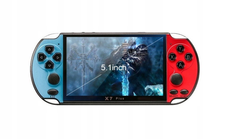 Item CONSOLE X7 PLUS 8GB MP5 MP4 MP3 GryBajki BLUE-red, white