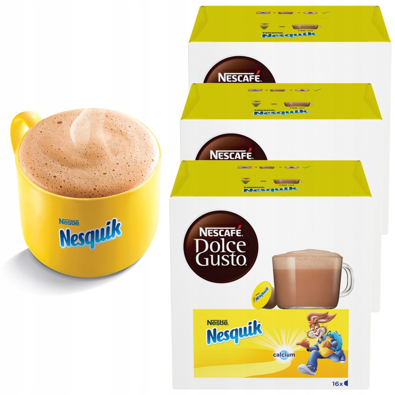 Kakao Dolce Gusto Nesquik Nescafe 48 kapsułek 3x16