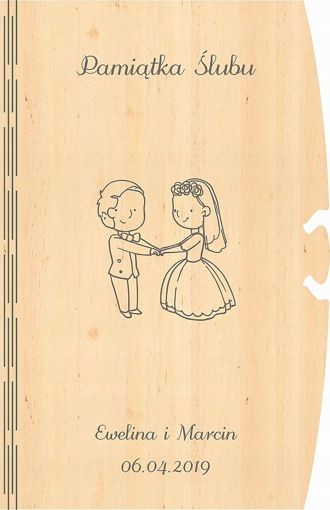 Grawerowane życzenia Na ślub Koperta Na Banknoty