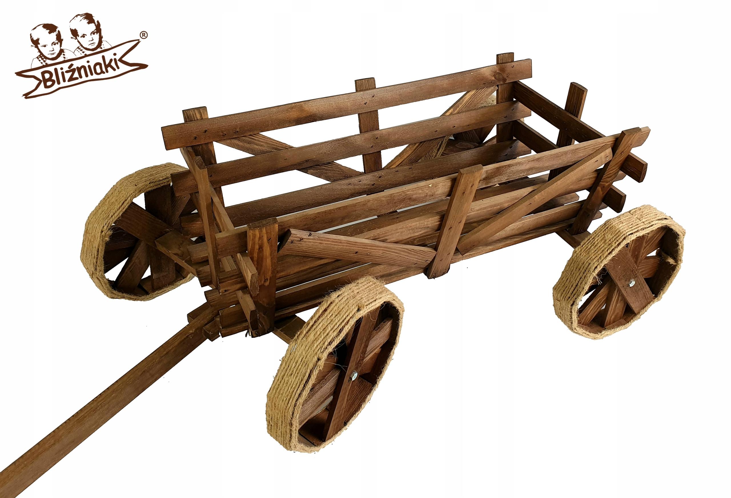 Dekoratívne drevené VOZEŇ Košíka DRABINIASTY ZÁHRADA
