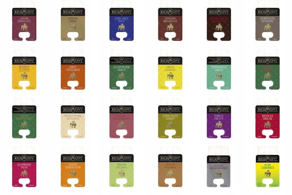 Richmont čaj - nastavenie pre všetky chute