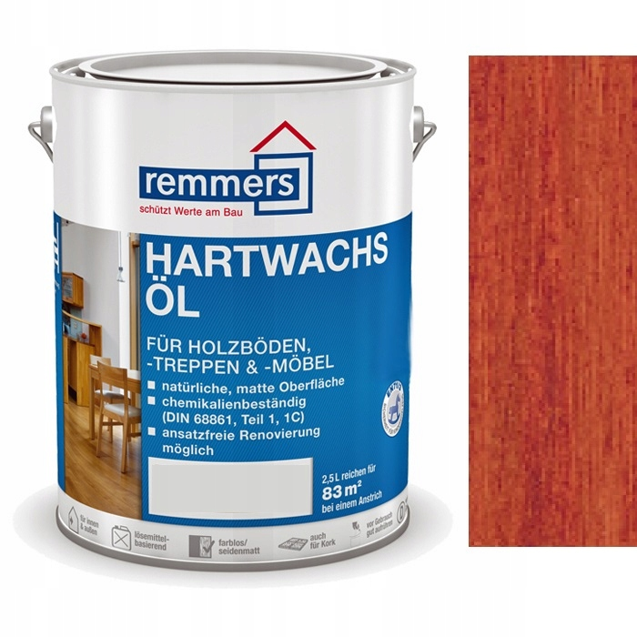 Hartwachs-Ol REMMERS 2.5 l mahagón