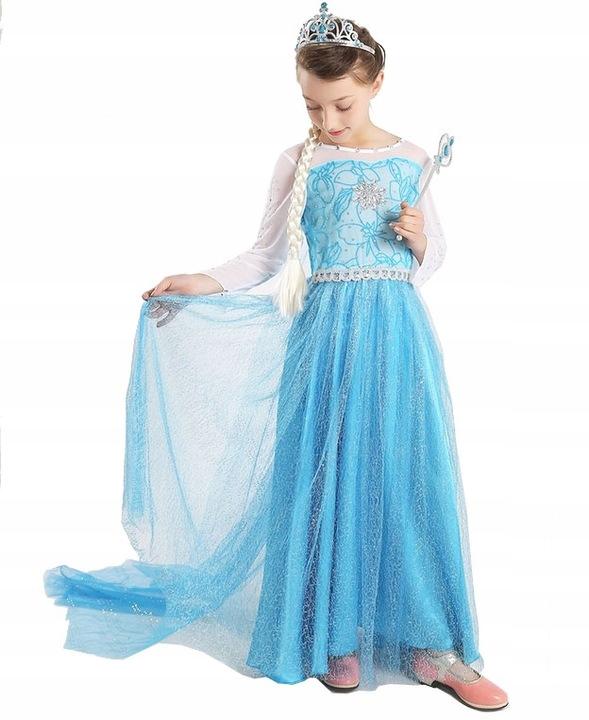 Outfit Elza Dress 3-4 roky 110 FROZEN crown S