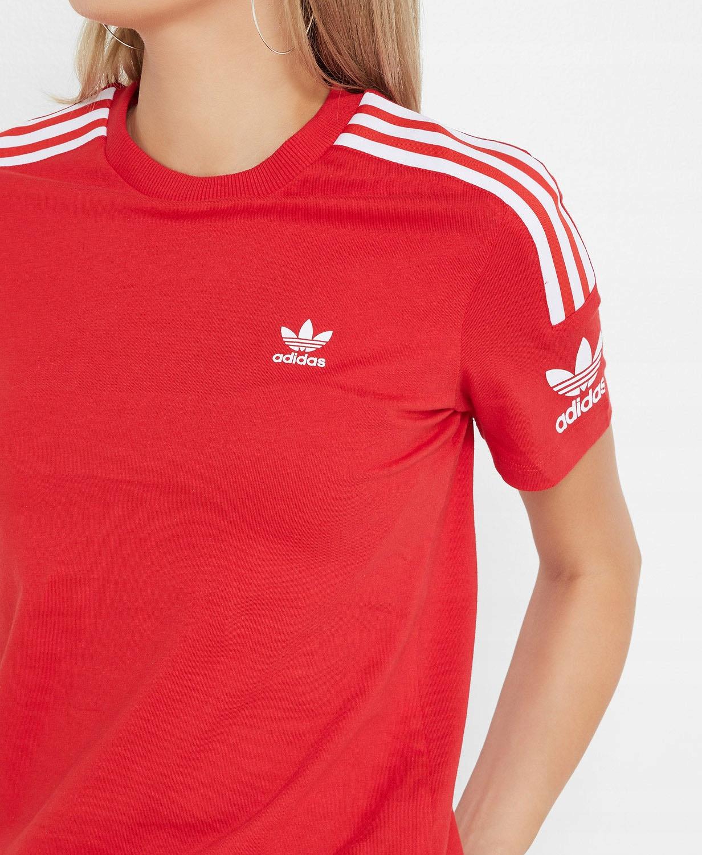 Koszulka Adidas Originals ED7531 czerwona paski XS