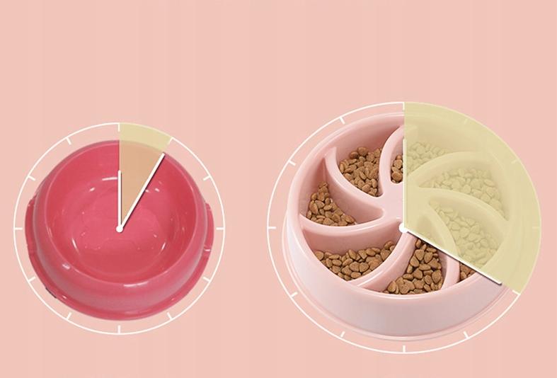 DUŻA MISKA SPOWALNIAJĄCA JEDZENIE DLA PSA 500 ml Kolor odcienie różowego