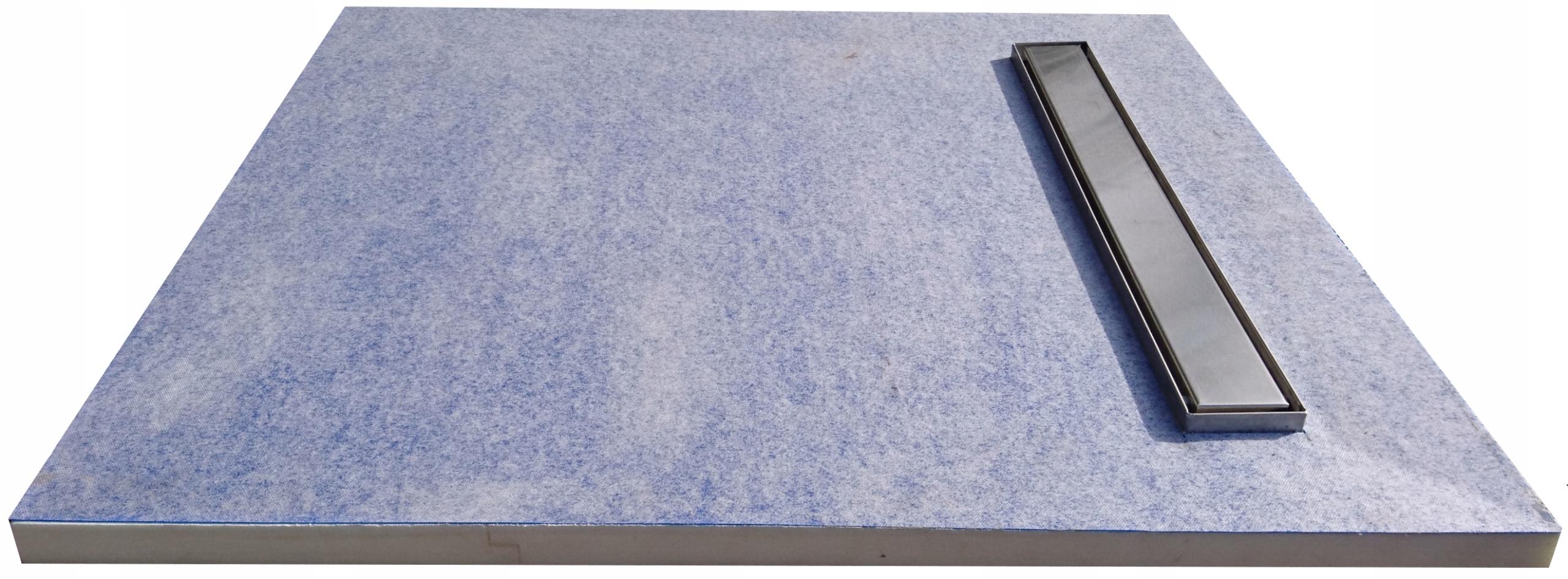 Sprchová vanička pod dlaždice S4 110x110 lineárny odtok 80