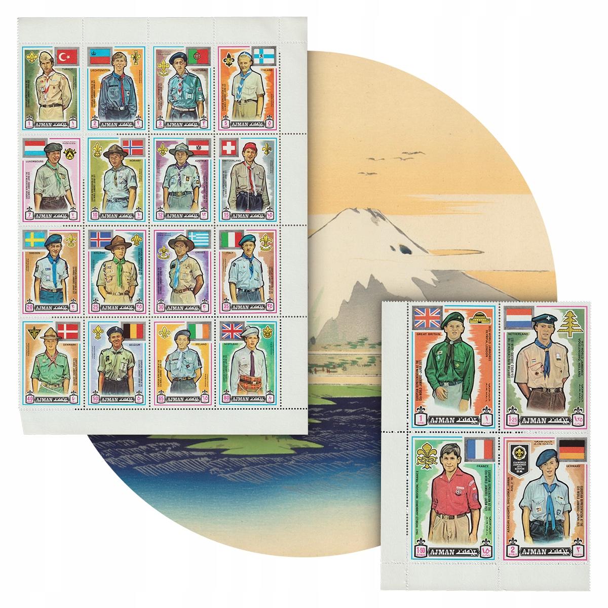 Ajman Skauci Jamboree Góra Fudżi Japonia 2 Bloki**