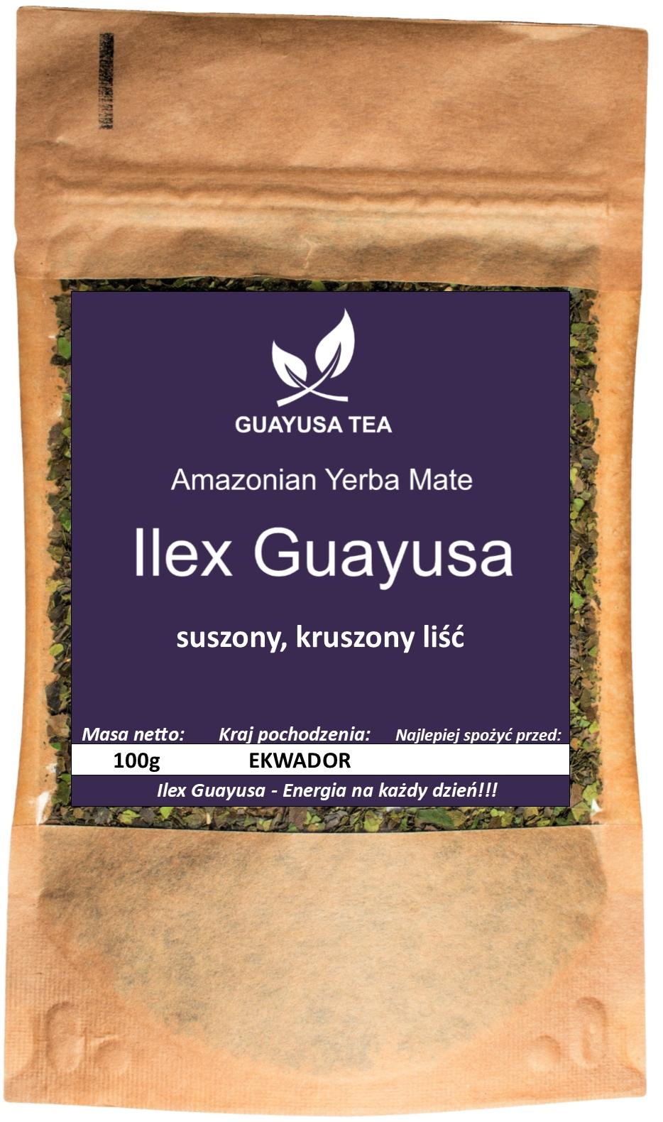 Ilex Guayusa 100g, Energia, Relax, Pobudzenie EAN 5903684211036