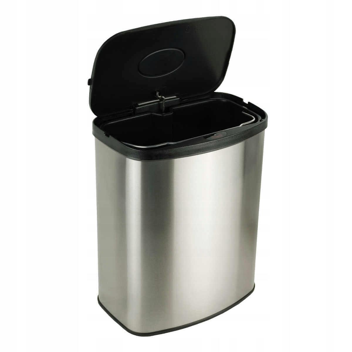 Kosz na śmieci automatyczny 8 litrów stal nierdz.