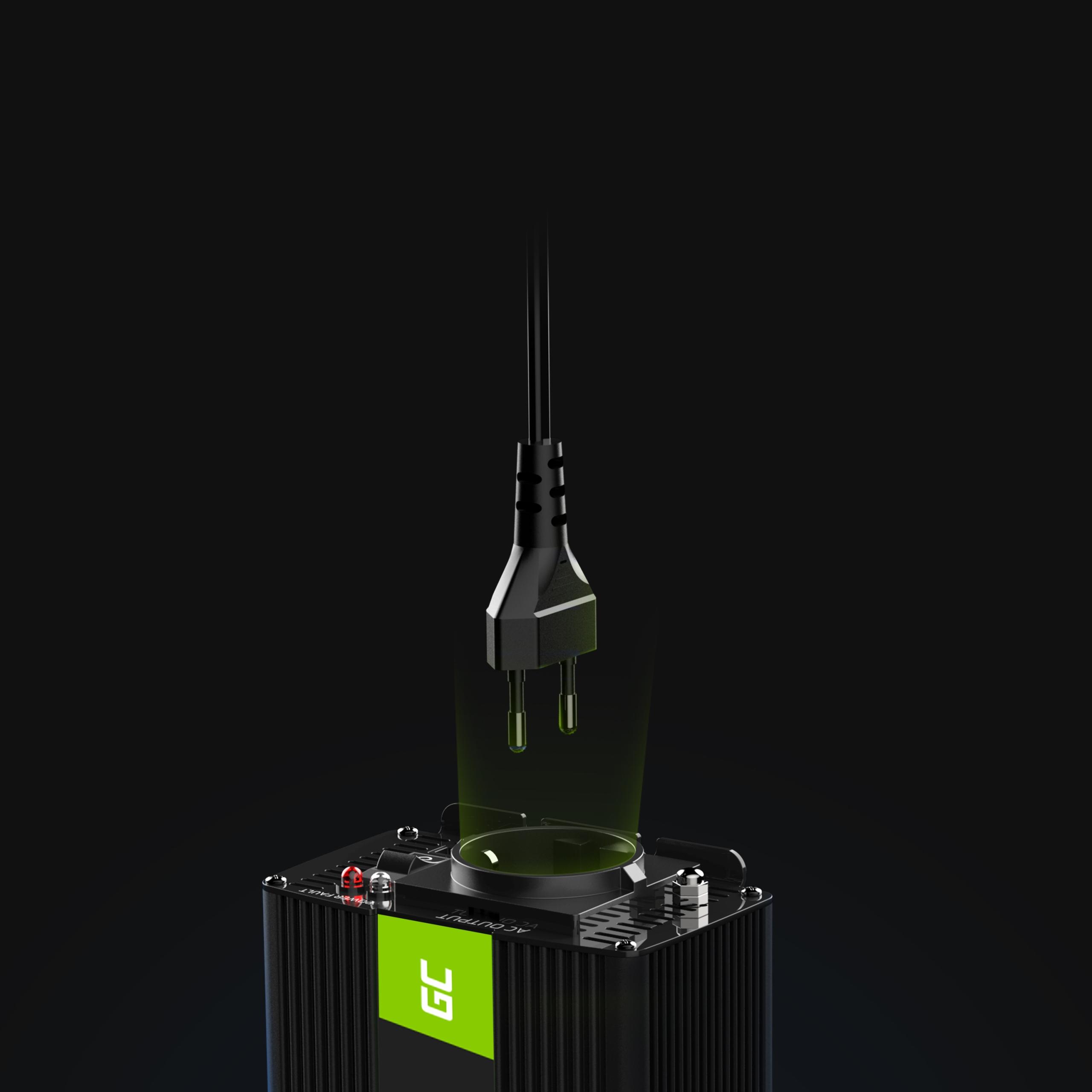 Купить Inwerter napięcia Green Cell 12V do 230V 1000W 1kW на Otpravka - цены и фото - доставка из Польши и стран Европы в Украину.