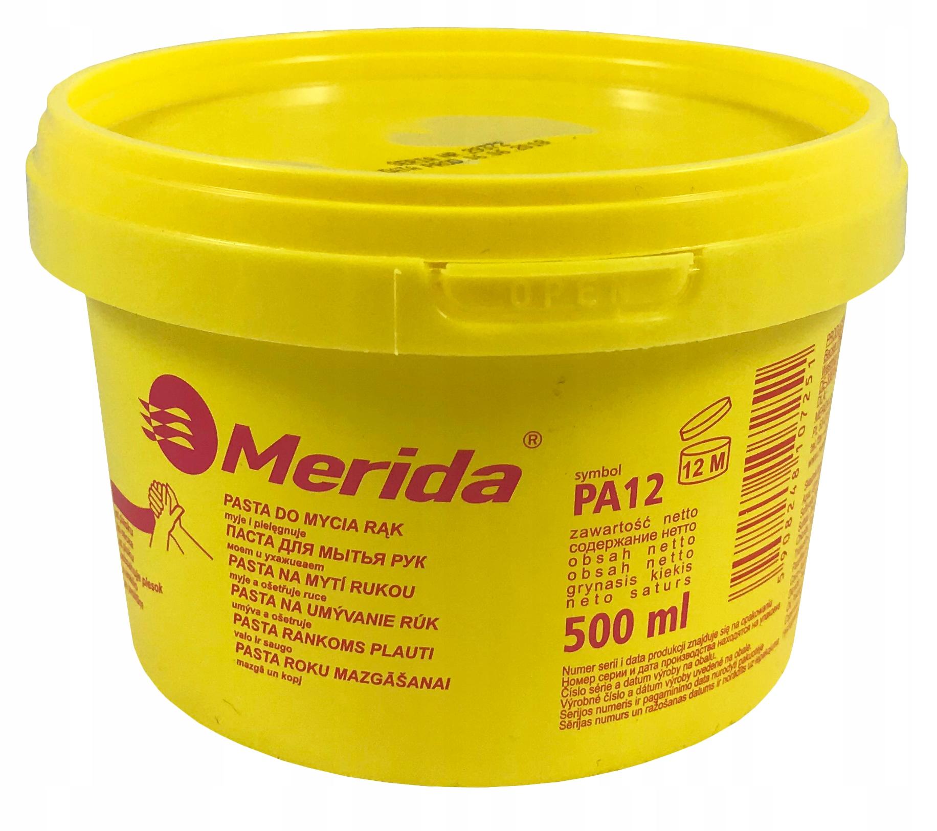 Паста для мытья рук Merida PA12 500 мл