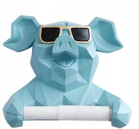 Držiak na toaletný papier PIG IN GLASSES