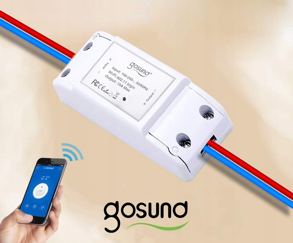 Przekaźnik Włącznik WiFi GOSUND TUYA IOS ANDROID Seria Intelientny przekaźnik GOSUND
