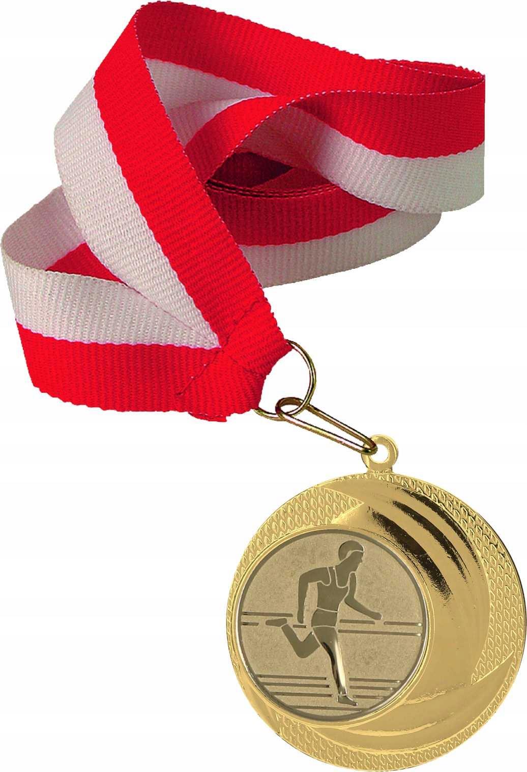 Tani Золотый medal 40mm +wstążka +emblemat +wklejka!