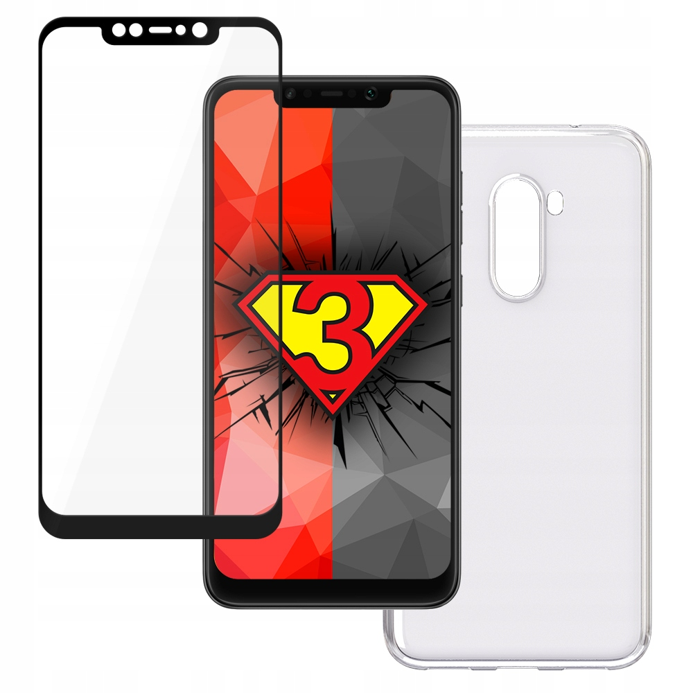 Szkło+etui ----- Firmy 3mk --- Xiaomi Pocophone F1