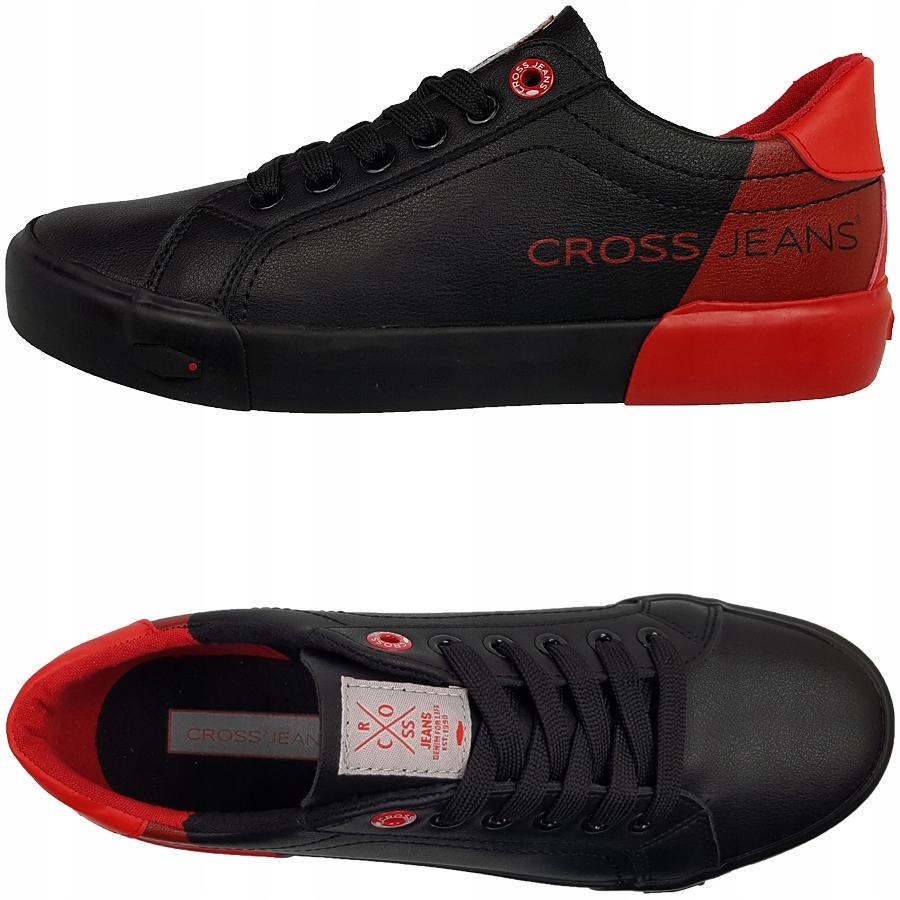 Trampki Cross Jeans czerwone czarne EE2R4019C 40
