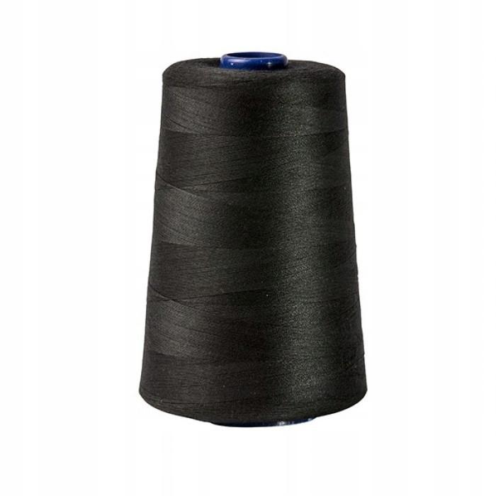 Нитка для швейной машины, черная 5000м