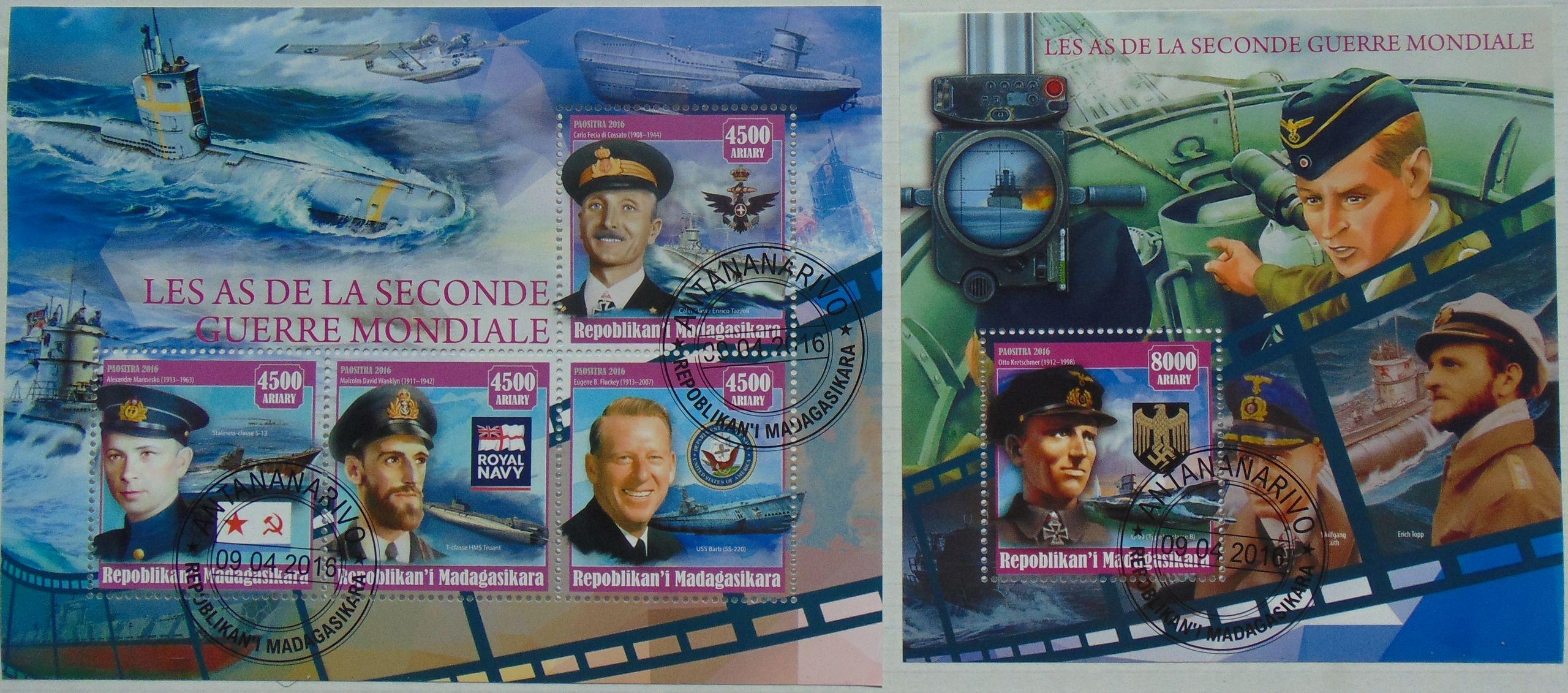 Купить Подводные лодки Мадагаскар листов.+bl. #11173a-b на Otpravka - цены и фото - доставка из Польши и стран Европы в Украину.