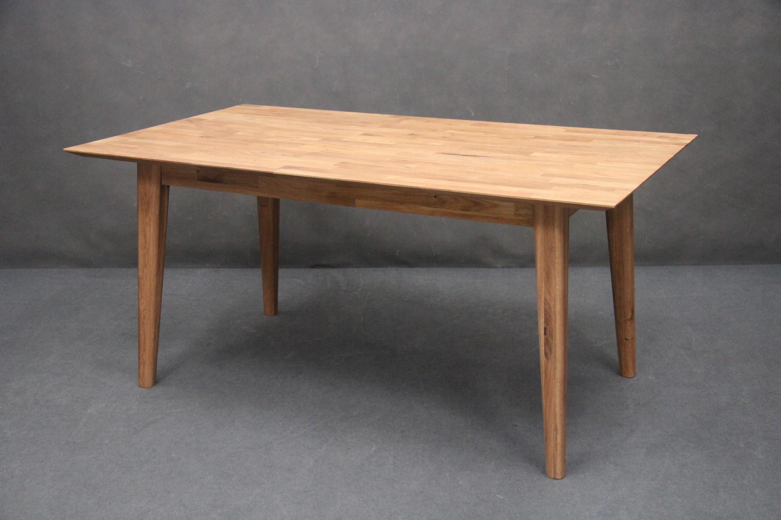 Dubový stôl, masív DUB 160 RETRO šikmé nohy