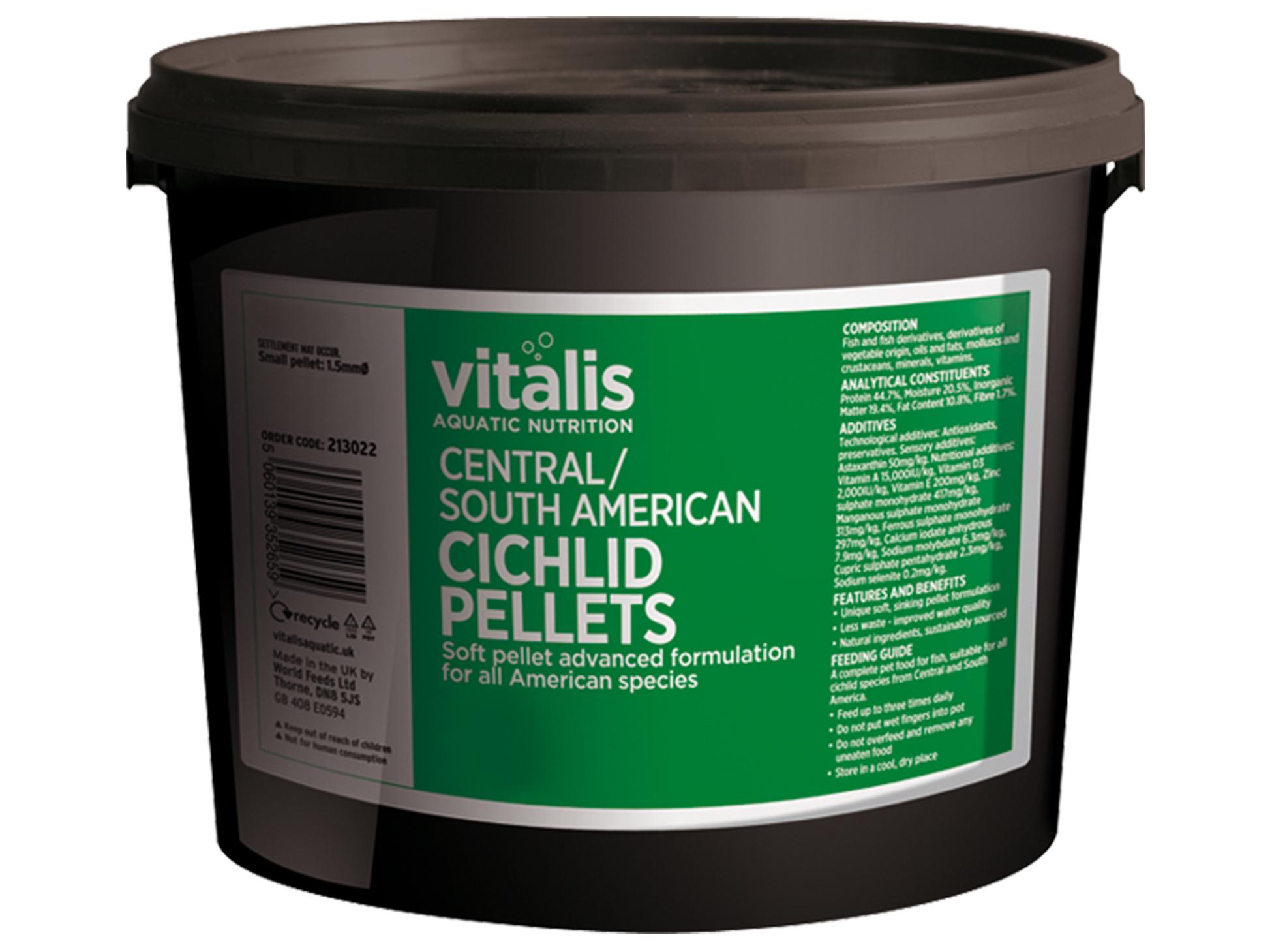 Vitalis C/S American Cichlid Peliet 6 mm 20 kg M