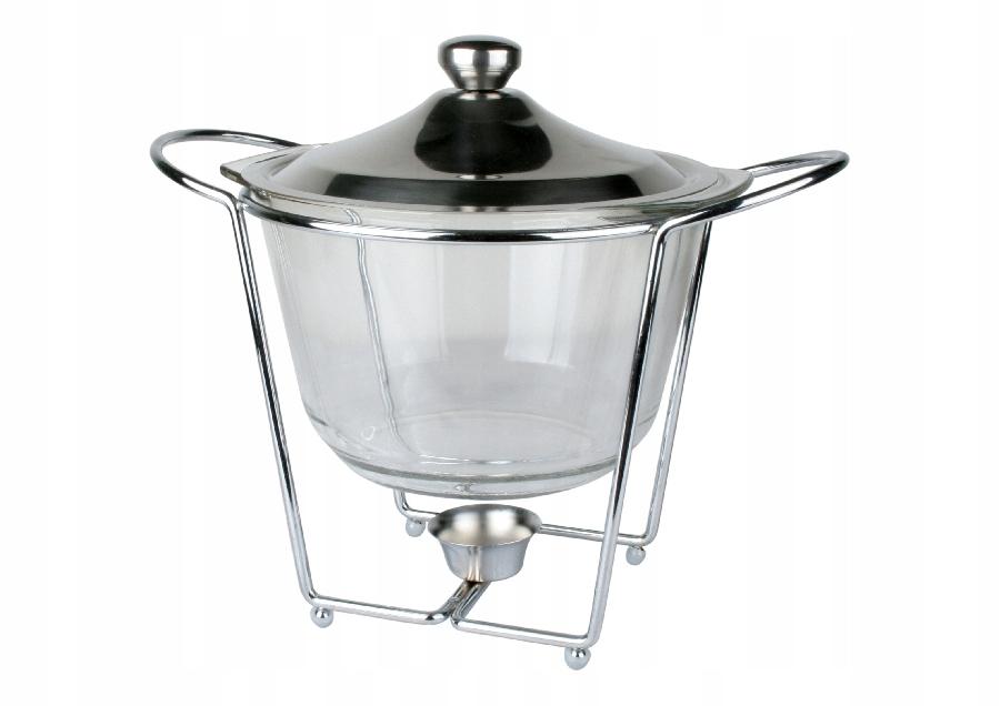 Szklane naczynie z podgrzewaczem 4 litry