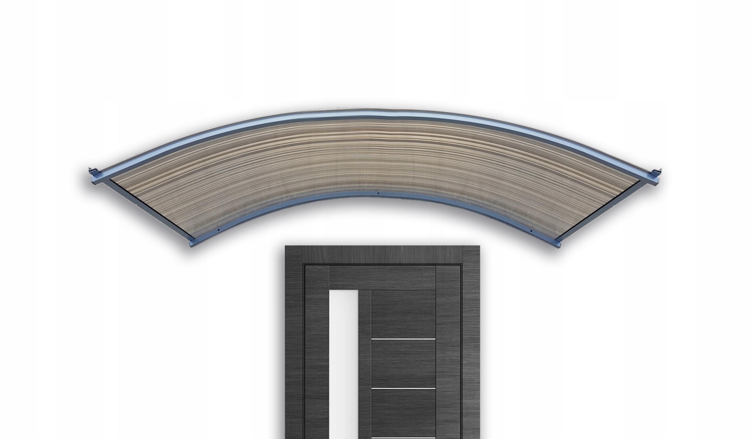 Strieška nad dvere, strešná krytina 150x25x50 antracitová