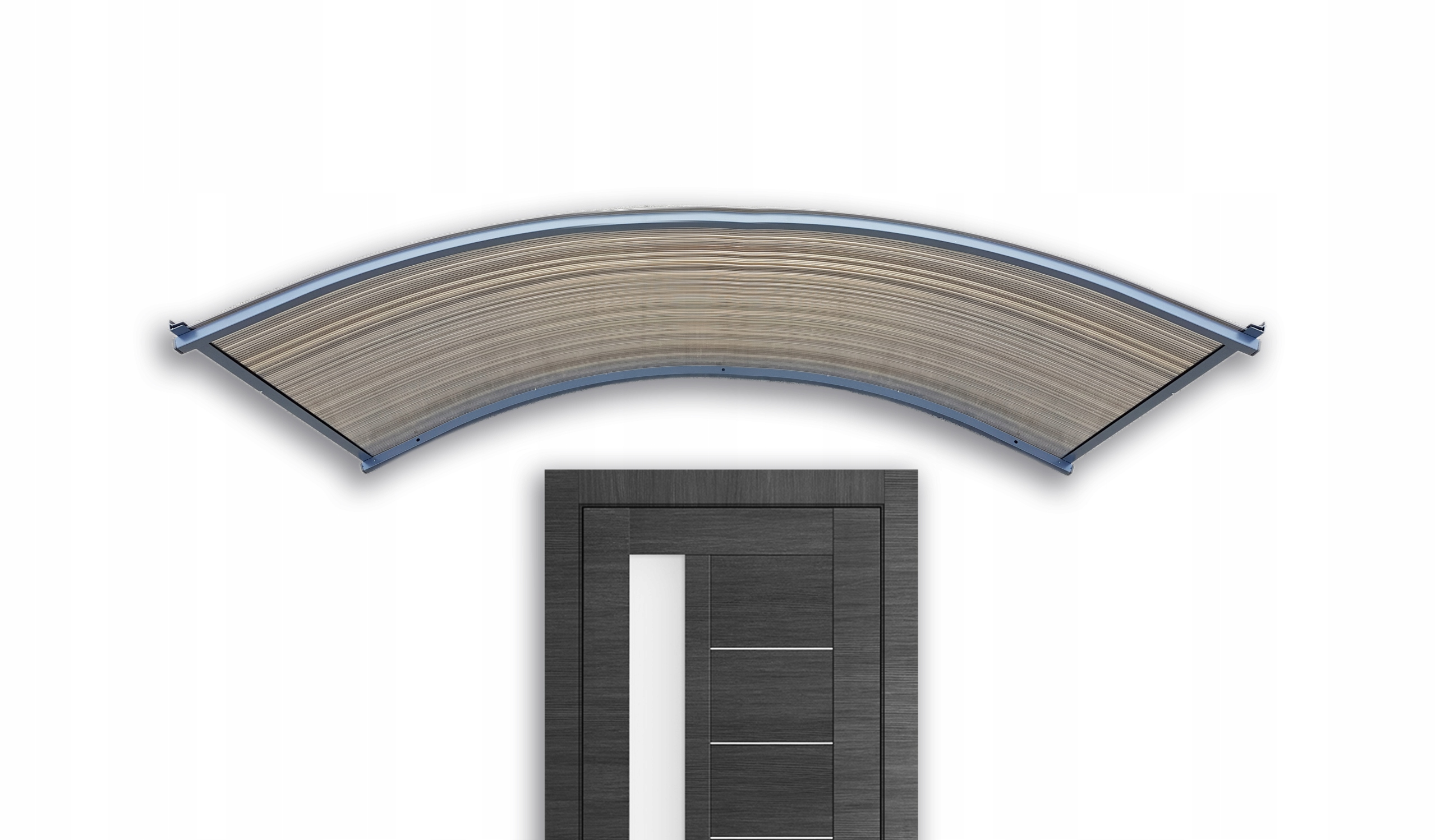 Strieška nad dvere, strešná krytina 150x25x70 antracitová