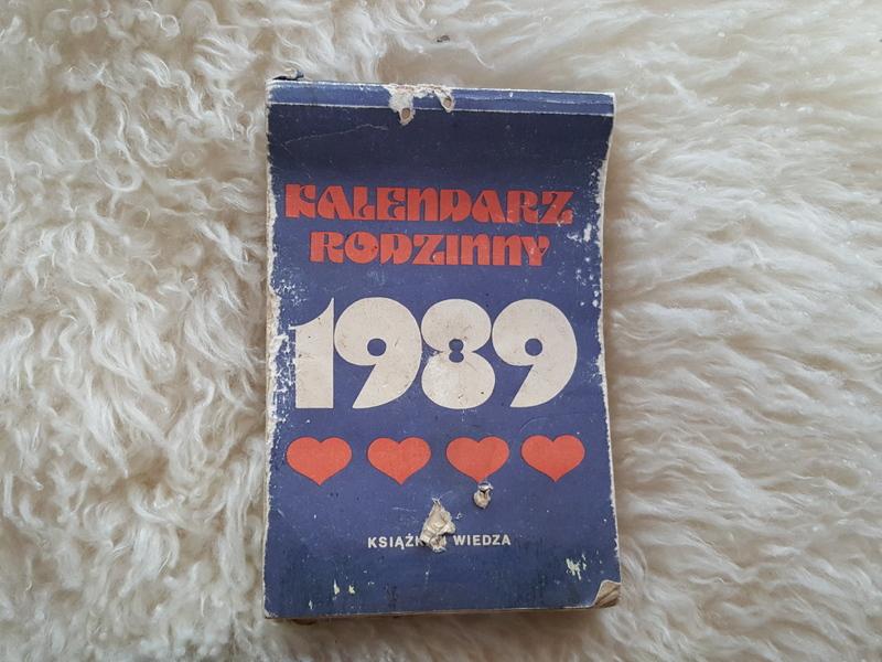 КАЛЕНДАРЬ ОРИГИНАЛЬНАЯ 1989