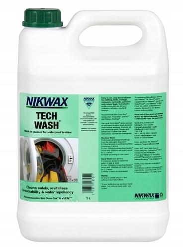 Nikwax TECH WASH-Жидкость для стирки курток одежды 5L