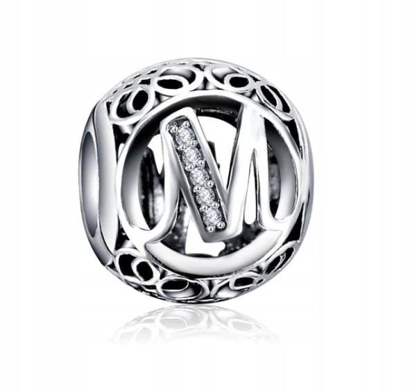 PRÍVESKY VINTAGE 925 sterling silver Písmeno M Pandora