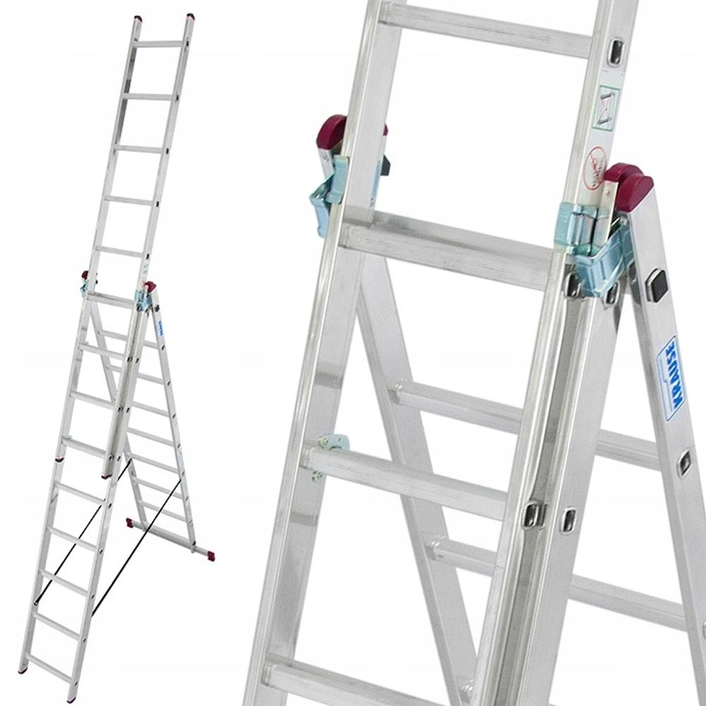 Краузе лестница алюминиевая CORDA 3x9 6 ,40м +