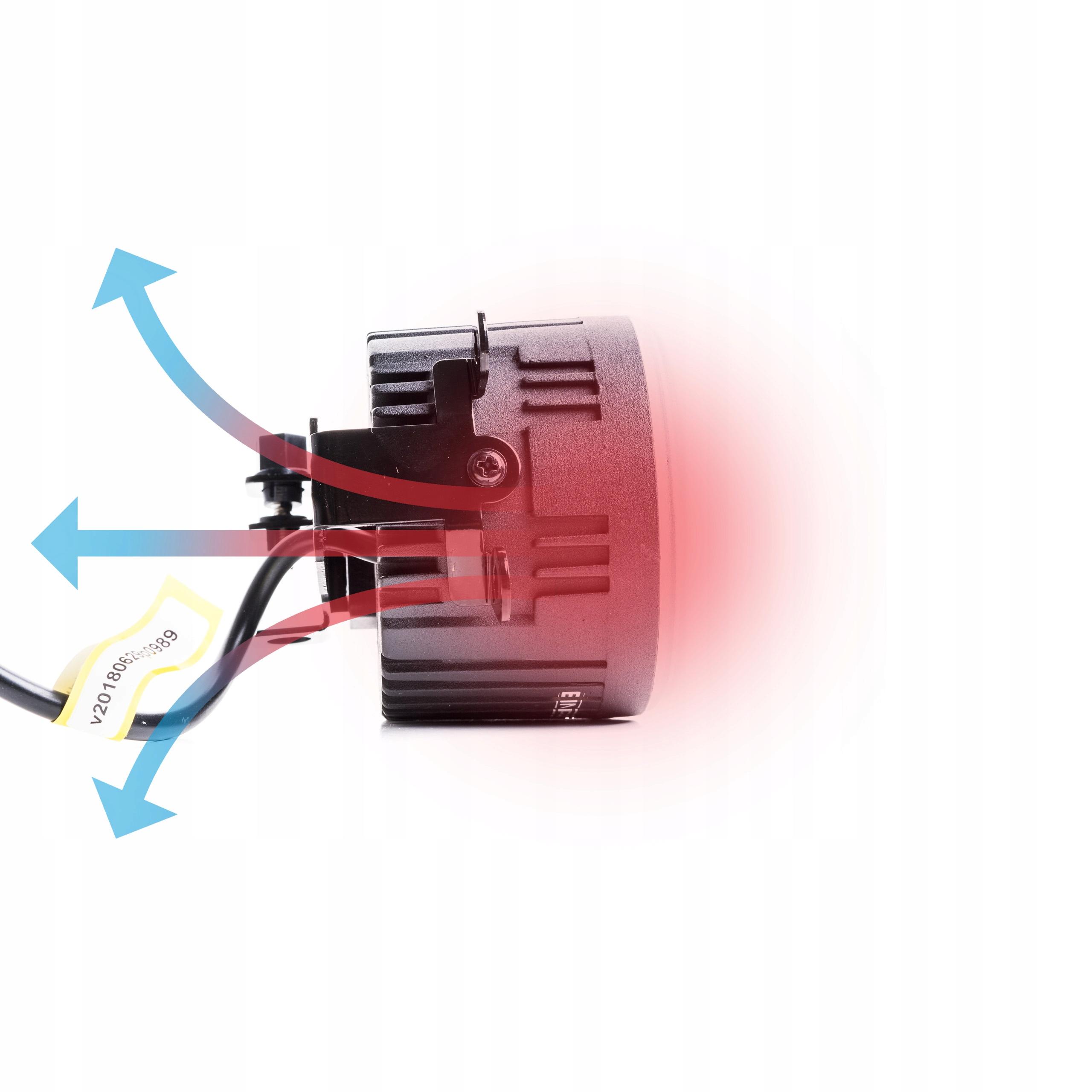 2w1 Światła dzienne okrągłe LED halogeny DUOLIGHT 6