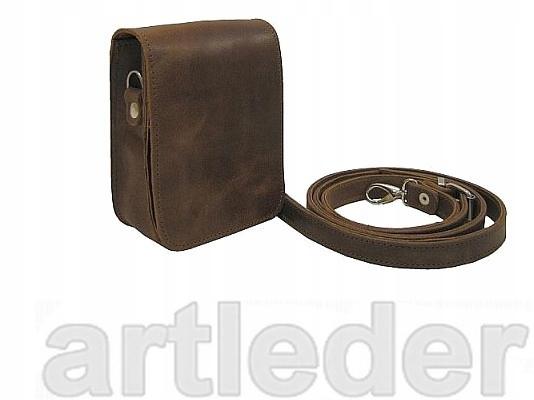 na dávke taška na pás a ramenné kožený retro POĽSKÝ