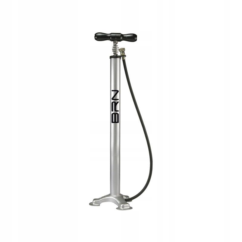 Retro pumpa na bicykel, ventil do auta strieborná