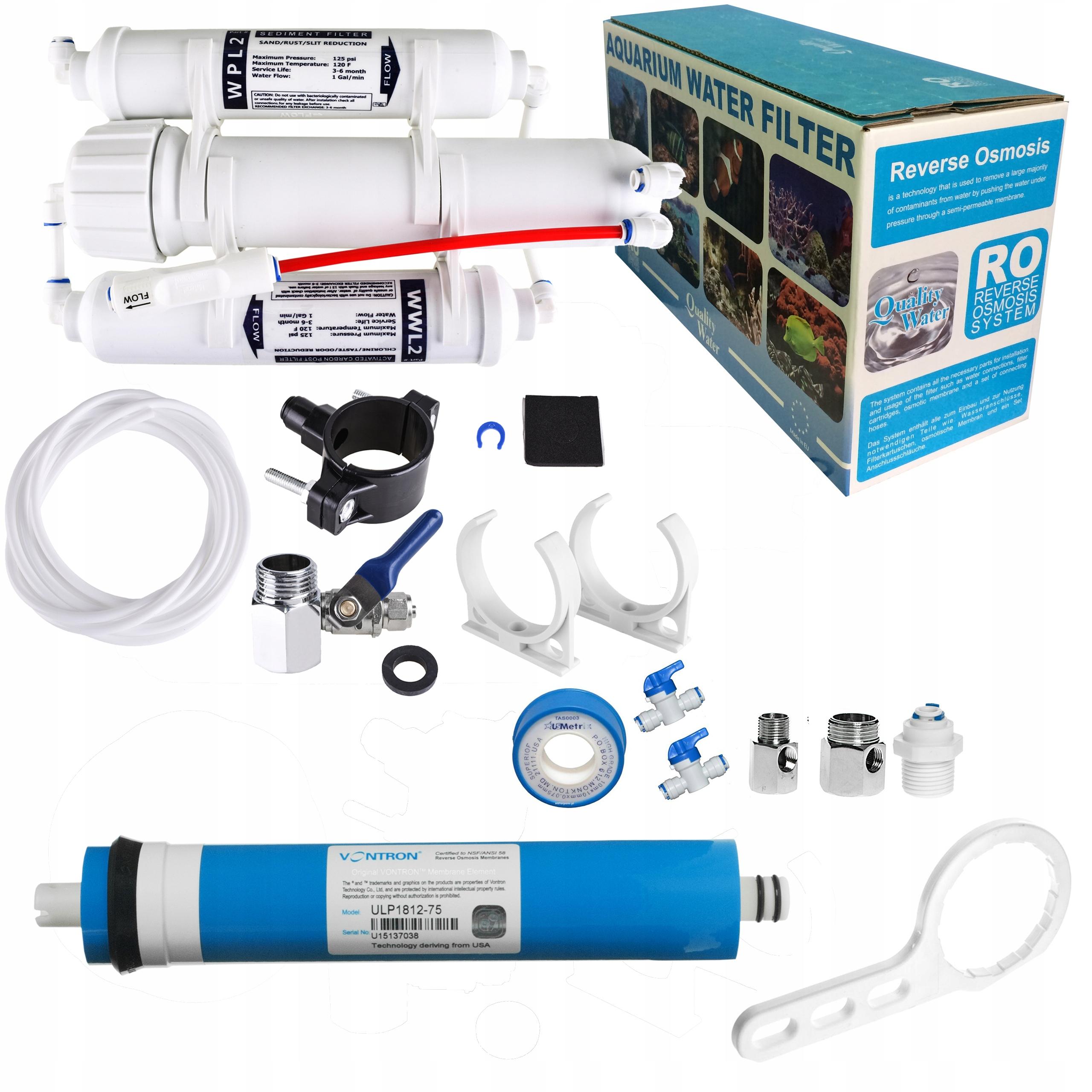 Filter RO3 akwarystyczna osmózy 75 HDP MEGA SET