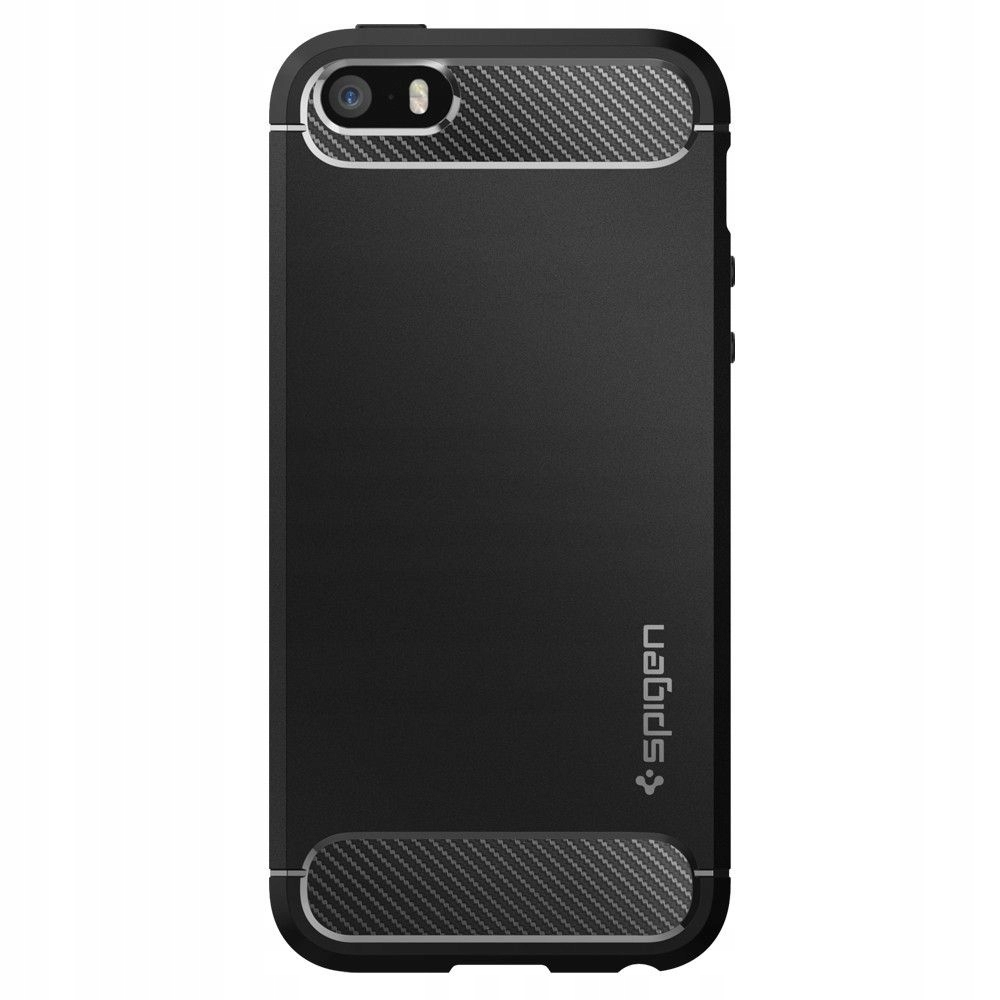 Etui Spigen Rugged Armor do iPhone 5/5S/SE + Szkło